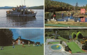 SAINT-DONAT, Quebec, Canada, PU-1987; 4-Views of Activities for all ages
