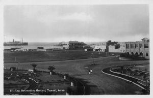 Yemen Aden Tawahi, The Recreation Ground, Ship, real photograph
