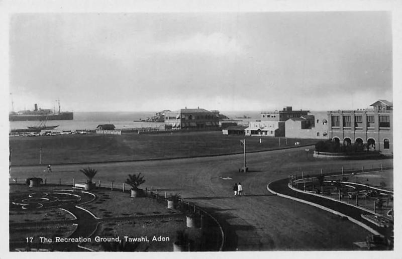 Yemen Aden Tawahi, The Recreation Ground, Ship, real photograph