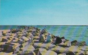 Rhode Island Galilee Visitors Enjoying The Breakwater
