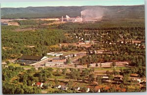 Terrace Bay Ontario  aerial with Kimberly-Clark factory Canada postcard