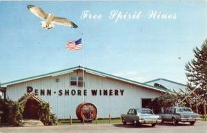 North East Pennsylvania Penn Shore Winery Street View Vintage Postcard K69575