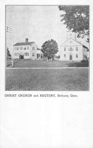 Bethany Connecticut Christ Church And Rectory Antique Postcard K16231