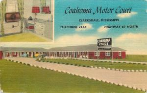 Clarksdale Mississippi~Coahoma Motor Court~Inside Out~Linen Roadside Motel~1940s