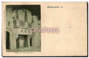 Old Postcard Belgium Oudenaarde Town Hall fireplace