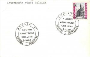 16105 Brussel, Bruxelles, Astronauts visit Belgium Aldrin, Armstrong, Collins...
