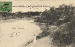 CPA Vietnam Indochine TONKIN - La Rivière à Sainte-Reine (61569)