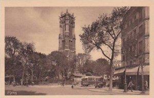 France Paris Ancienne tour gothique de l'eglise Saint Jacques la Boucherie