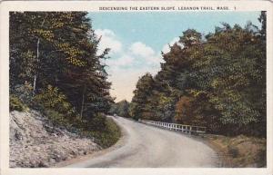 Massachusetts Lebanon Trail Descending The Eastern Slope