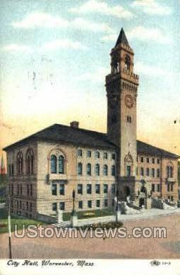 City Hall Worcester MA 1910