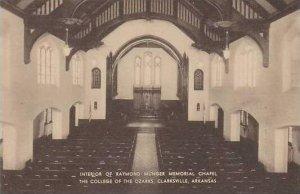 Arkansas Clarksville Interior Of Raymond Munger Memorial Chapel The College O...