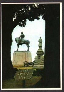PA Gettysburg East Cemetery Hill General Howard Civil War Pennsylvania Military