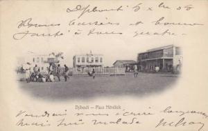 Place Menelick, Djibouti, Africa, PU-1905