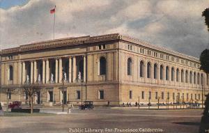Public Library, San Francisco, California, Postcard, Unused
