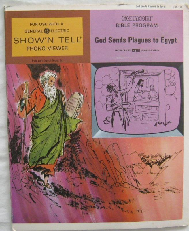 Vintage God Sends Plagues To Egypt Canon Bible Program For GE Show N Tell 1966