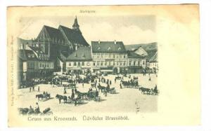 Gruss aus Kronstadt [ Now Brașov ] , Romania , PU-1899, Udvozlet Brassobol, ...