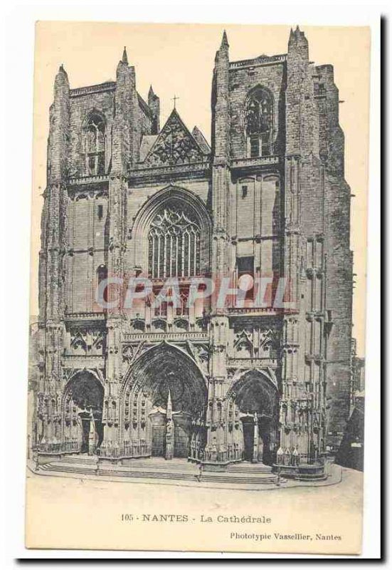 Nantes Old Postcard The cathedral