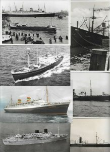 Holland America Line Steamer Ships RPPC And More Ships Postcard Lot of 20 -01.11