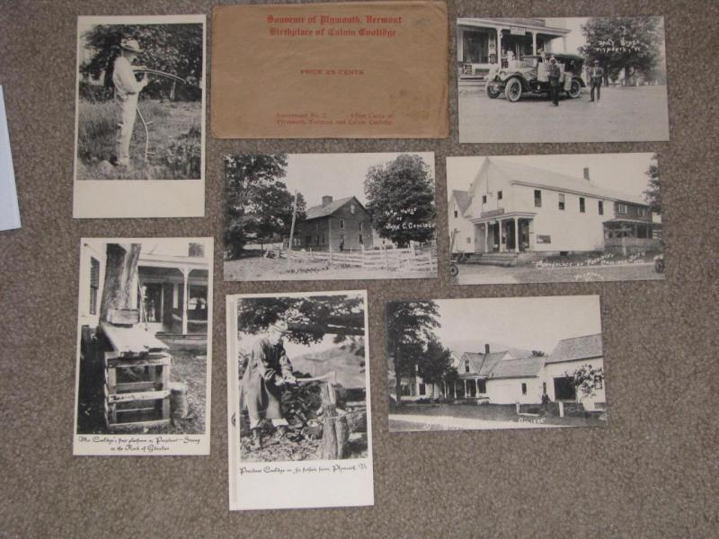 President Calvin Coolidge set of 8 Postcards with original Envelope unused