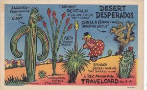 Humour Reg Manning Travel Card Desert Desperados 1957 Curteich