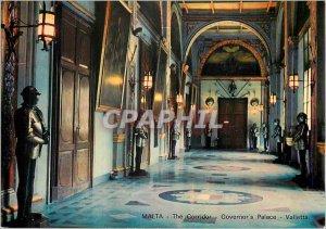 Postcard Modern Malta The Corridor Governors Square Valletta Army