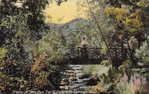 Vista In Stratton Park Colorado Springs Colorado 1909