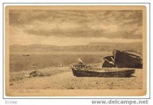 The Dead Sea, Palestine, Fishing boats, PU 1928