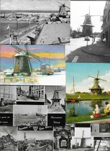Dutch Windmills - with RPPC Postcard Lot of 16 01.08