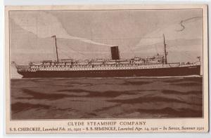 Clyde Steamship Co. S.S. Cherokee