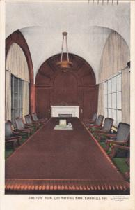 EVANSVILLE , Indiana , PU-1934 ; Director's Room, City National Bank