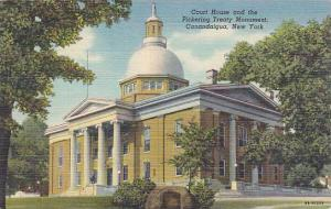 New York Canandaigua Court House And The Pickering Treaty Monument 1951