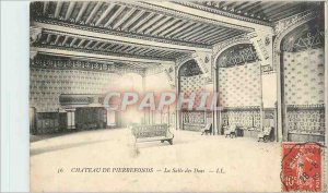 Old Postcard Ch�teau Pierrefonds - the room of the Dukes