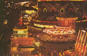 Night Illuminations at Bottons Park Great Yarmouth 1970s Postcard