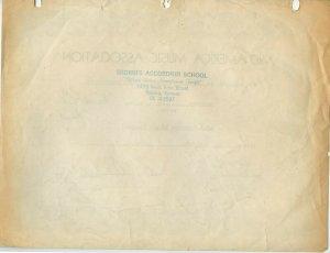 Mid-America Music Association Superior Rating Certificate Kansas City Band 1959