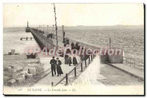 Old Postcard Le Havre New Jetee