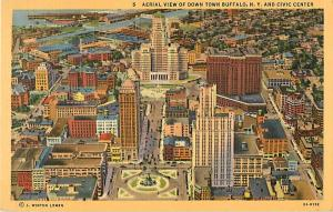 Linen Air View of Downtown Buffalo NY New York
