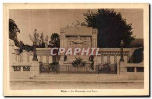 Old Postcard Ham Monument Aux Morts Army