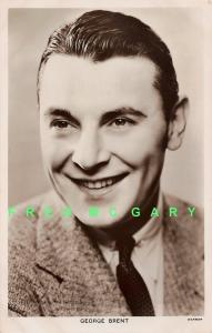 1940 George Brent RPPC: Irish Film & Stage Actor