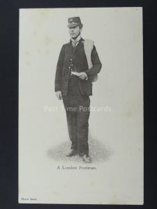 London Postman Delivers the Mail c1904 RP Postcard by The Wrench Series 1021