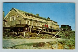 Mt Washington NH- New Hampshire, Summit House Hotel, Chrome Postcard