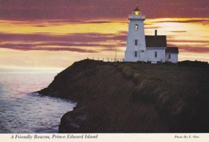 A Friendly Beacon, Northumberland Strait, Lighthouse, Prince Edward Island, C...