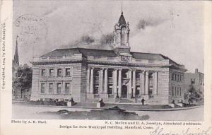 Design for new Municipal Bldg , STAMFORD , Connecticut , PU-1905