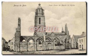 Old Postcard Bourg De Batz Notre Dame and the Mulberry Church