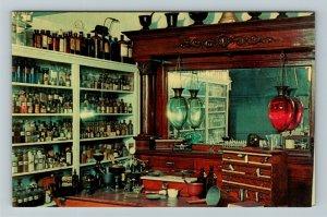 Minden NE- Nebraska, Apothecary Shop, Pioneer Village, Chrome Postcard