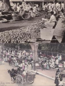 Jubilee Square Market Colombo Jamaica 2x Postcard s
