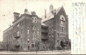 New York City Brooklyn The German Hospital 1910