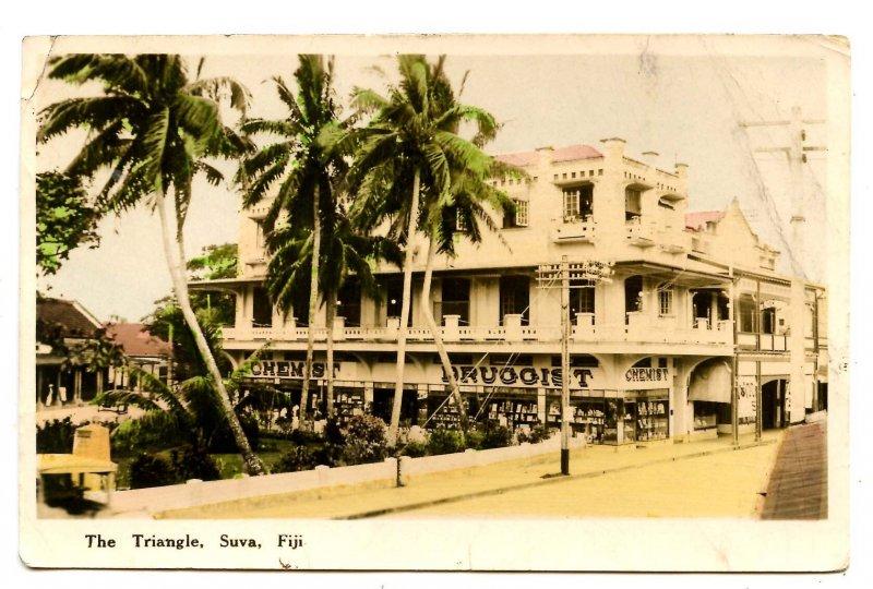 Fiji - Suva. The Triangle  *RPPC   (creases)