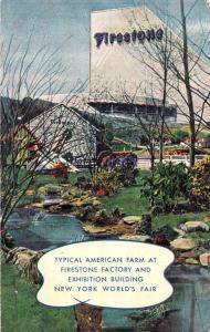 New York Worlds Fair American Farm Firestone Factory vintage pc Z12923