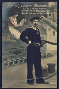 Austria WWI SMS Habsburg Kriegsmarine Feldpost Navy Real Photo RPPC 51341