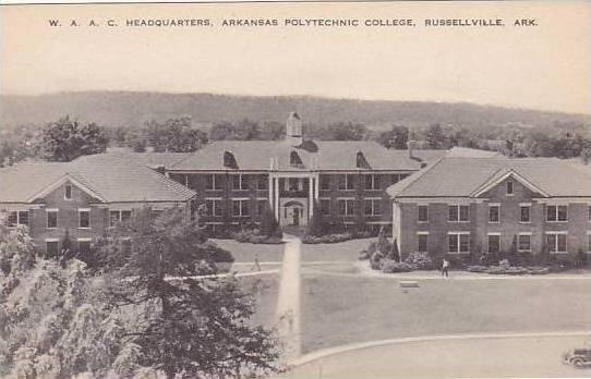 Arkansas Russellville Arkansas Polythechnic College W A A C Headquarters Artvue